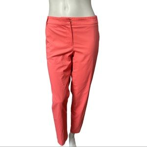 Judith & Charles Coral Cotton Blend Ankle Pants 10